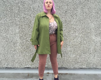 PISTACHIO GREEN TRENCH