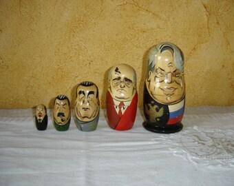 Poupées russes. Matriochka. Russie. URSS. Russian dolls. Vintage. Retro.