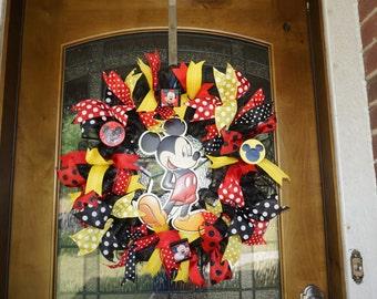 Mickey Wreath, Mickey Mouse Wreath, Disney Wreath, Classroom Wreath, Mickey Decor