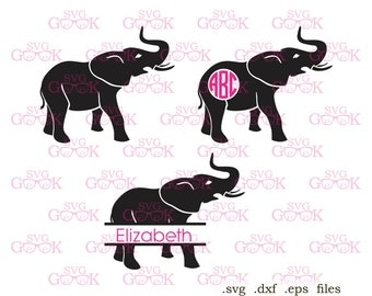Alabama Elephant SVG cut files, Elephant svg, cut files for use with Silhouette, Cricut and other Vinyl Cutters, digital cut file