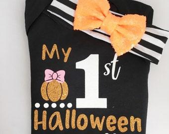 My 1st Halloween onesie/ first halloween/ baby girl outfit/ halloween onesie/ sweet sparkle