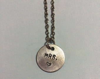 MRS. necklace for new bride