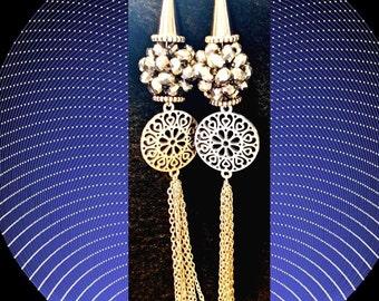 Earrings-Silver Glam