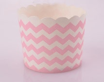 Mini Chevron Baking Paper Cups- Party Favor, 1st Birthday Favor, Birthday Favor, Candy Table, Wedding Favor, Baby Shower Favor