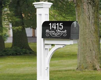 Mailbox Decal // Mailbox Sticker // Mailbox Address Decal // Mailbox Name Decal // Vinyl Decal // Vinyl Sticker //Wonderfully Made Creations
