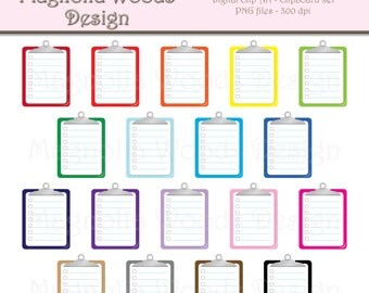 Clipboard Clip Art, To Do List Clip Art, School Clip Art, Planner Clip Art, Small Commercial Clip Art, School Supplies Clip Art