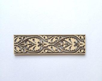 Beautiful laser cut ornamental border 155 / Wood ornaments / Wood decor / Laser cut wood / Borders / Wood shapes / Wood charms / Laser cut