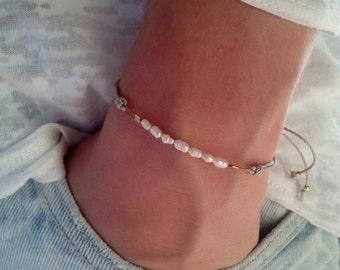 Freshwater pearl bracelet, minimalist bracelet, gift bracelet
