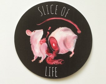 Rat Vinyl Sticker - Slice of Life