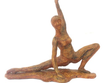 Original Ceramic Sculpture of Athletic Woman