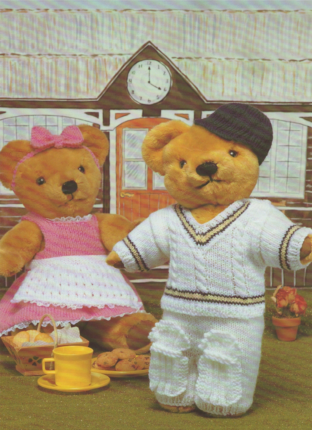Teddy bear clothes pdf knitting pattern cricket outfit for boy teddy bear clothes pdf knitting pattern cricket outfit for boy ted bear and dress with apron for girl bear instant digital download bankloansurffo Gallery