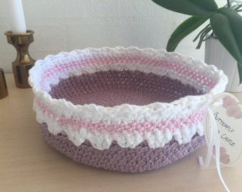 Beautiful crochet basket