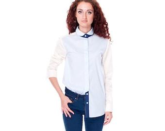Women's Shirt with long sleeves/ Light Cotton Shirt/ A Loose Women's Shirt/Women's Blouse/Blouse for Women