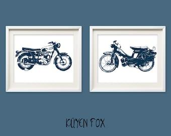 Motorcycle wall art - motorcycle nursery art - motorcycle wall Decor - vintage motorcycle -  motorcycle room decor - motorcycle wall print
