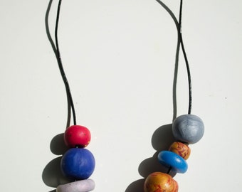 Polymer bead necklace