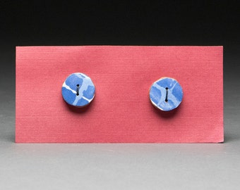 HANDMADE BUTTONS, sewing button, clay button, clamped natural indigo, indigo, clothing accessory, sewing supplies, blue button, craft supply