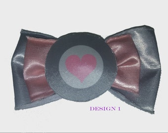 Portal Heart Hairbow - 4 different designs available