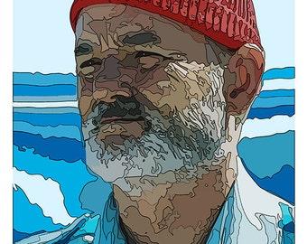 Steve Zissou Portrait