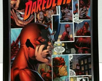 """Daredevil 8x10"""" Comic Collage Portrait"""