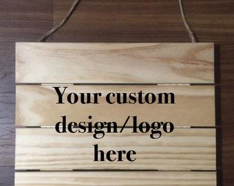 Custom Hanging Sign