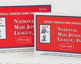 National Mah Jongg League 2016 Card - Official Hands and Rules