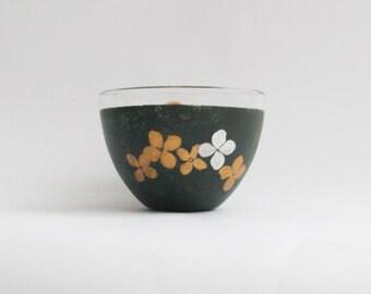 Coffee mug, Tea mug, Glass painted mug, Hand painted glass mug, Pressed flowers glass mug, Unique mug,