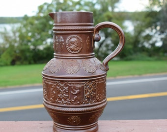 Rennaisance-Style German-Themed Urn/ Clay Pitcher