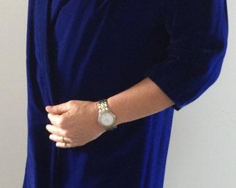 Original vintage royal blue velvet coat
