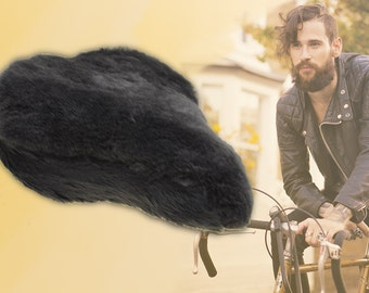 Bicycle saddle cover - Lambskin - Standard size