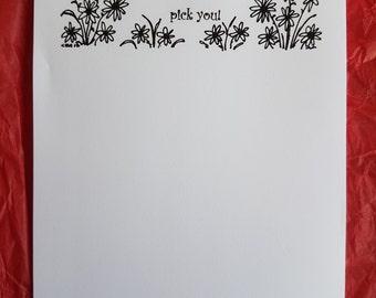A6 notepad, If teachers were flowers..