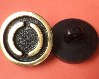 12 buttons black gold 18mm (1672)