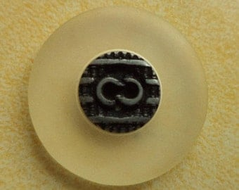 10 buttons silver 23mm (2429) button