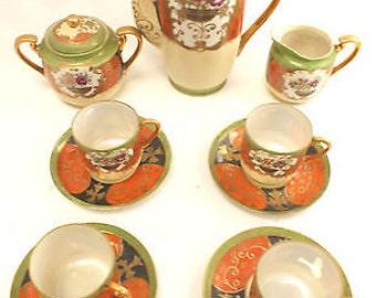 JAPANESE Tea Set Genuine Samurai China 1930's