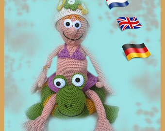 Amigurumi doll crochet pattern, crocheted dolls pattern, amigurumi PDF pattern, Instant download