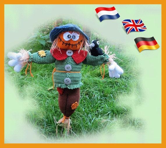 Scarecrow Loki Amigurumi doll crochet pattern crocheted