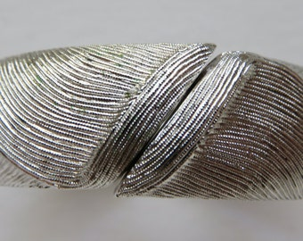 Vintage Monet Bracelet Monet Brushed Silver Tone Bracelet Vintage Jewelry Costume Jewelry Hinged Bracelet Silver Tone Bracelet Jewelry