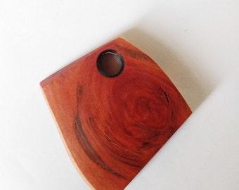 Wooden rhombus pendant, geometric wooden pendant, geometric wooden necklace, wooden jewelry, wooden jewellery, wooden supplies
