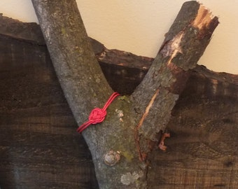 Leather strap, flower red, child