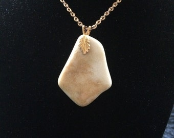 Natural Tumbled Stone Necklace 102-S-18-AU-Br