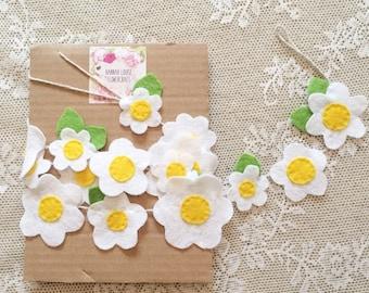 Daisy chain felt flower garland