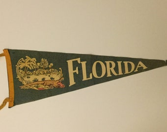 Florida - Vintage Felt Pennant,