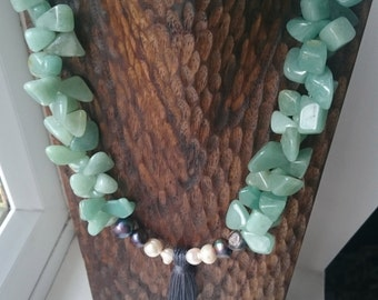 Jade, pearls and tassle