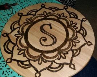 Custom Monogrammed Lazy Susan Cake Plate