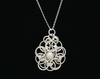 Sterling Silver Chain Maille Pendant