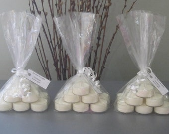 Three Dozen Scented Soy Tea Lights- 144 hours of candle light
