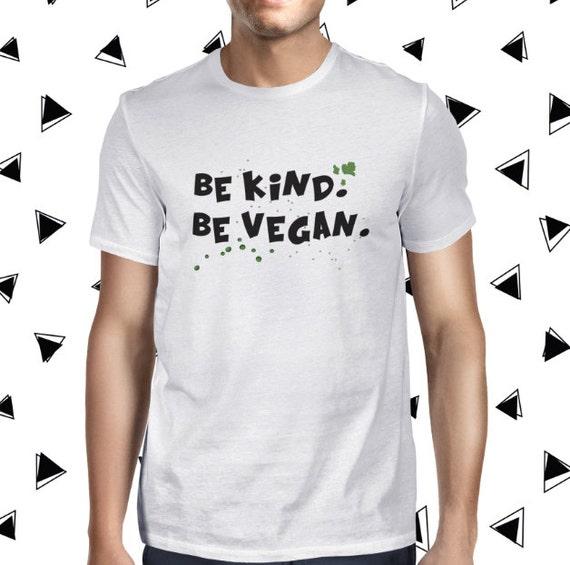 Be Kind Vegan Tee - Male Animal Shirt - Casual Shirt - Vegan Tshirt - Mens Vegan Clothing - Healthy - Funny Tee - Vegetarian - Plant-based