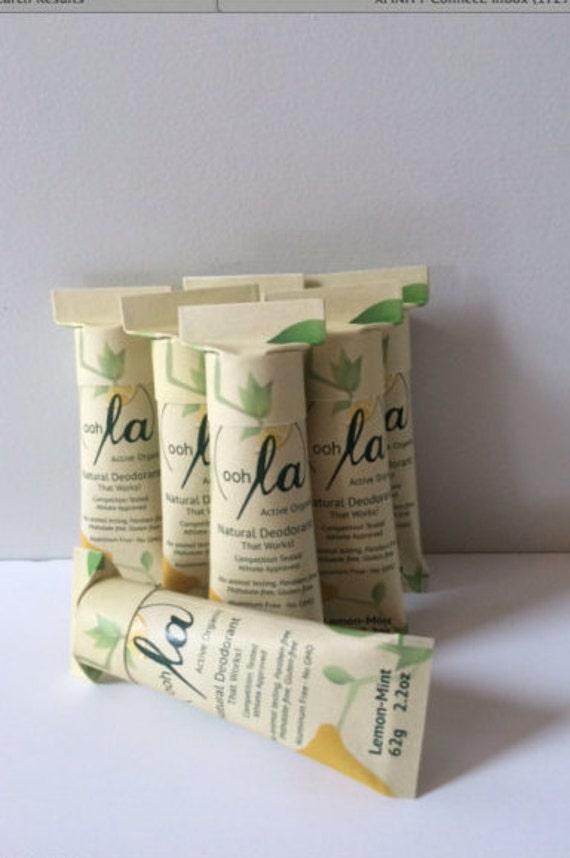 30% Off  Sale! All Natural Lemon-Mint Deodorant  Chemical- Free Organic Deodorant That Works!  Non-Toxic Care!  REG 11.99 Now  Thru Jan 8.99
