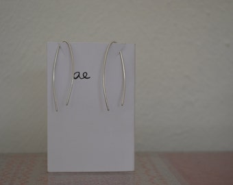 sterling silver simple stunning wire earrings