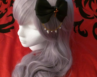 Black Lolita Hair Bow