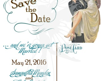1950's Vintage Wedding Save the Date